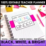 The ULTIMATE Teaching Survival Binder: Black and White Wit