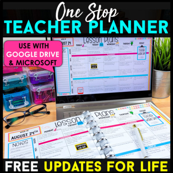 The Ultimate Teacher Plan Book (Binder) {Editable} - FREE Plan Books for Life!