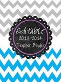 The Ultimate (and Editable) Grey & Blue Chevron Teacher Bi
