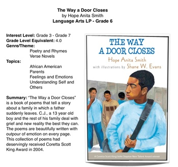 """The Way a Door Closes"" - by H.A. Smith - Lesson Plan"