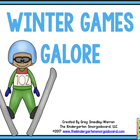 The Winter Games!  An Olympic Size Math And Literacy Center Pack!