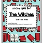 The Witches by Roald Dahl:  Book Test and Answer Key