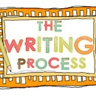 The Writing Process Poster Set - Prewriting, Drafting, Rev