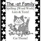 The -at Family Spelling {Word Work} Lists & Tests