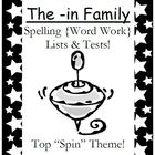The -in Family Spelling {Word Work} Lists & Tests