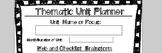 Thematic Unit Planner Template