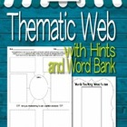 Thematic Web with extra features - writing hints and a wor