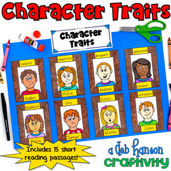 http://www.teacherspayteachers.com/Product/Character-Trait-Craftivity-featuring-16-characters-722370