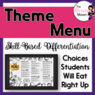 Theme Menu of Activities Based on Bloom's Taxonomy & Commo