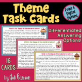 Theme Task Cards: 16 story cards and two options for stude