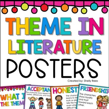 Theme in Literature Poster Set - 8 Common Themes - 2 Poster Styles
