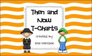 Then and Now T-Chart Partner Project {FREEBIE}