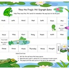 Theo the Frog's /th/ Digraph Literacy Station Game RF.1.3, RF.2.3