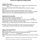 Theories on Origin and Change - Evolution Notes Outline Le