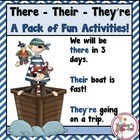 There, Their, They're - lesson, worksheets, games, centers