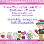 There Was an Old Lady Who Swallowed a Rose - Literacy Mini Pack