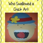 There Was an Old Lady Who Swallowed a Chick Retelling Art