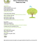 There is a Tree {Music and Movement Activity Sheet}