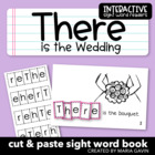 "Interactive Sight Word Reader ""There is the Wedding"""
