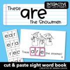 "Interactive Sight Word Reader ""These Are the Snowmen"""