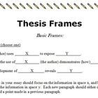 Thesis Frames: Easy to Follow Guides