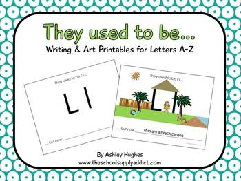 """They used to be...""  A-Z letter pack"
