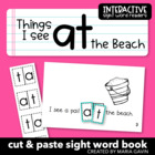 "Interactive Sight Word Reader ""Things I See at the Beach"""
