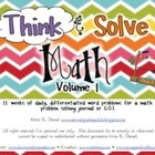 Think & Solve Math  {Daily Problem Solving/CGI/Cognitively