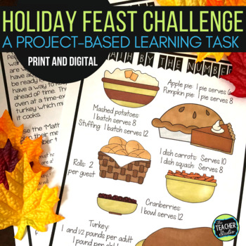 Thinker Tasks:  Holiday Feast Math Project Grades 3-4