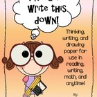Thinking Paper:  Teaching children how to think, not what