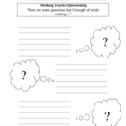 Thinking Tracks - Comprehension Strategy - Graphic Organizers