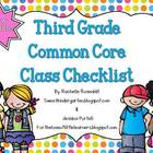 Third Grade Common Core Class Checklist {Now Editable!}