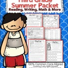 Third Grade Common Core: Summer Packet {Review Reading, Ma