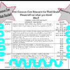 Third Grade Common Core and Harcourt Math Alignment