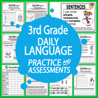Third Grade Daily Language Practice & Assessments--Common Core!
