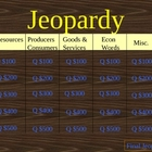 Third Grade Economics Jeopardy Game