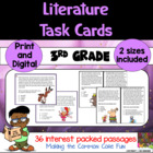 3rd Grade Literature Task Cards (and Game)!