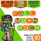 3rd Grade Common Core Aligned Math Practice: Autumn Themed