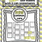 Third Grade Math Common Core Aligned Exit Tickets with I C