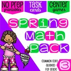 3rd Grade Common Core Aligned Math Practice: Spring Themed