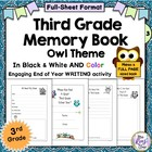 Third Grade Memory Book: Great End of Year Writing Project