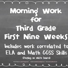 Third Grade Morning Work (First Nine Weeks)