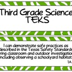 Third Grade Science TEKS