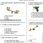 Third-Grade Simple Machines Multiple Choice Test Assessmen