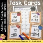 Task Cards and Answer Sheets Bundle for Third Grade - 3.NB