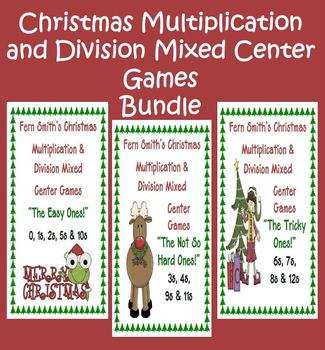 Thirteen Christmas Multiplication & Division Mixed Center