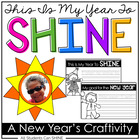 New Year Craftivity - This Is My Year To SHINE