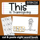 "Interactive Sight Word Reader ""This is Thanksgiving"""