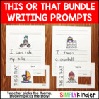 This or That Writing Prompts {All Year Bundle}
