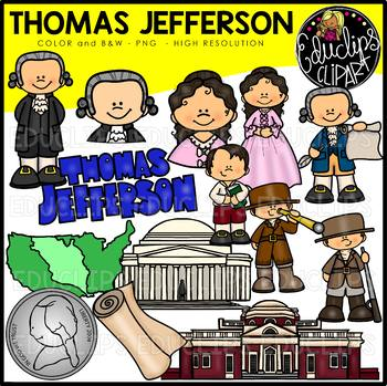 Thomas Jefferson Clip Art Bundle